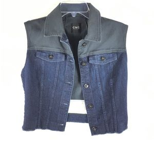Costume National C'N'C Women Denim Vest Pockets